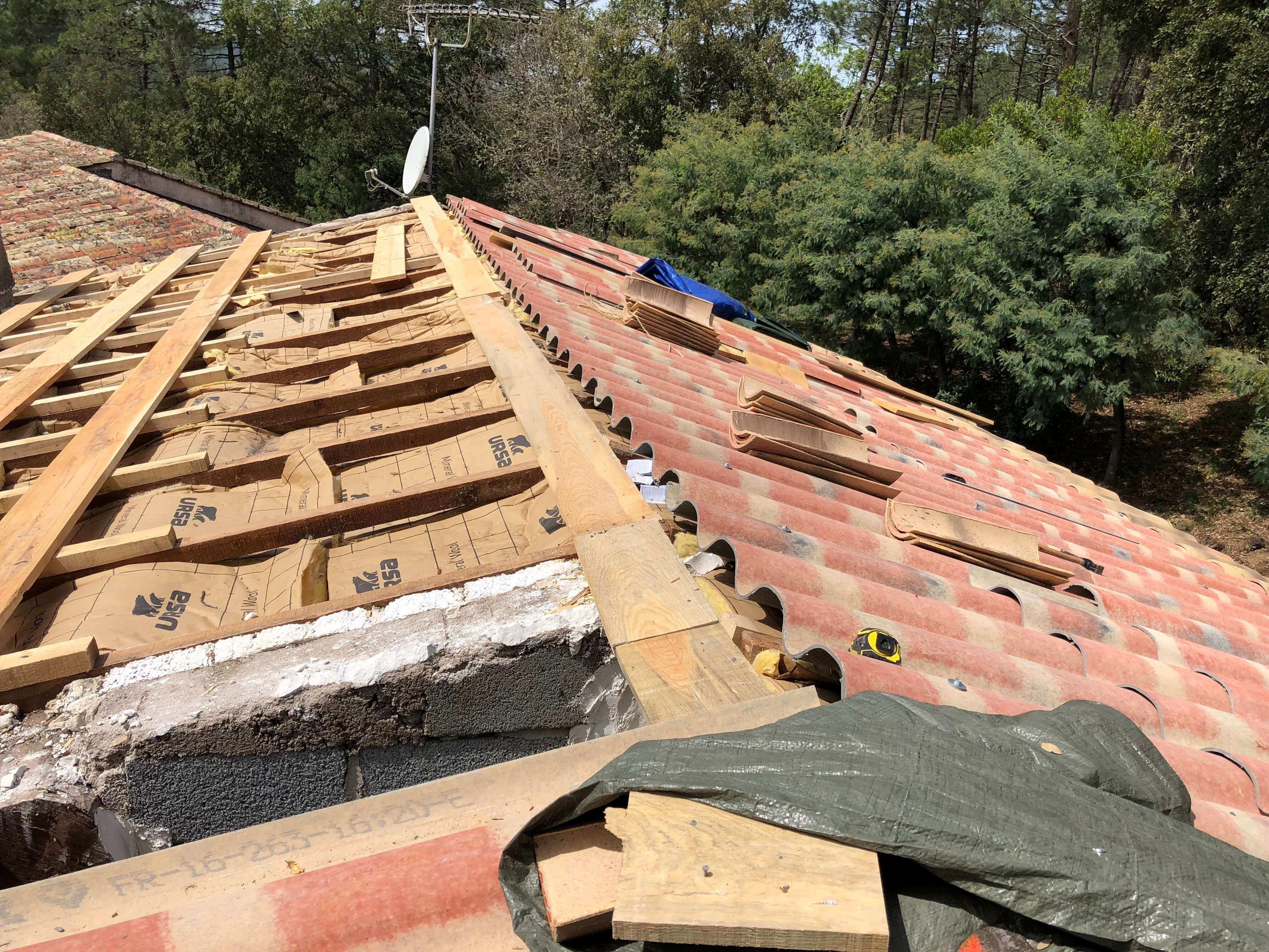 Travaux sur toiture à Sanary